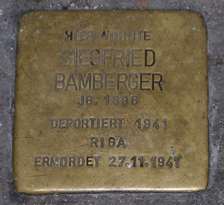 Stolpersteine in Karlstadt Siegfried Bamberger.JPG