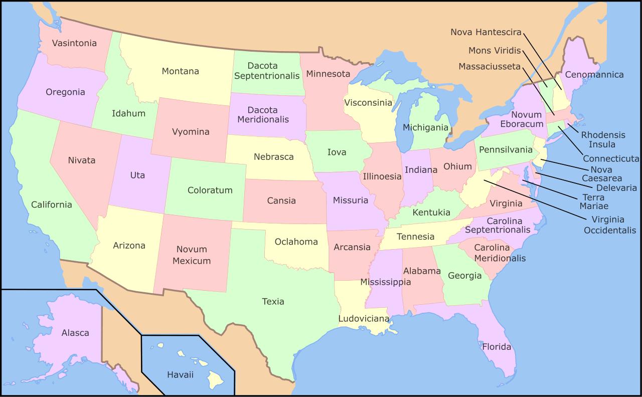 Language Cartographia - United states map vermont