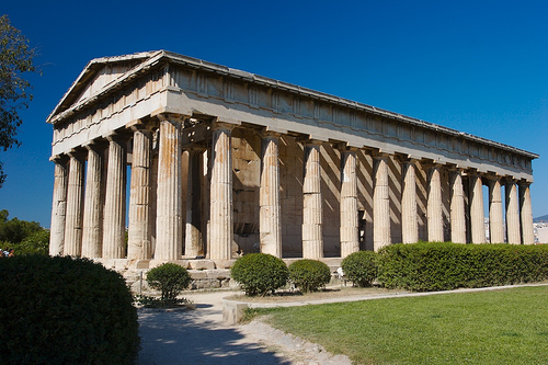 The Temple of Hephaestus in Athens is the best-preserved of all ancient Greek temples. - Wikipedia