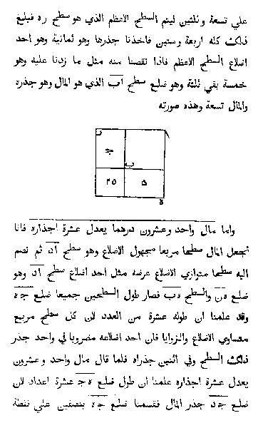 The Algebra of Mohammed ben Musa (Arabic)