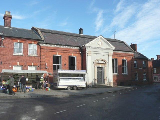 Town Hall and market stalls, Aylsham - geograph.org.uk - 1042851