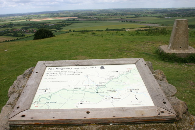 Trig point at Ivinghoe Beacon - geograph.org.uk - 1451264