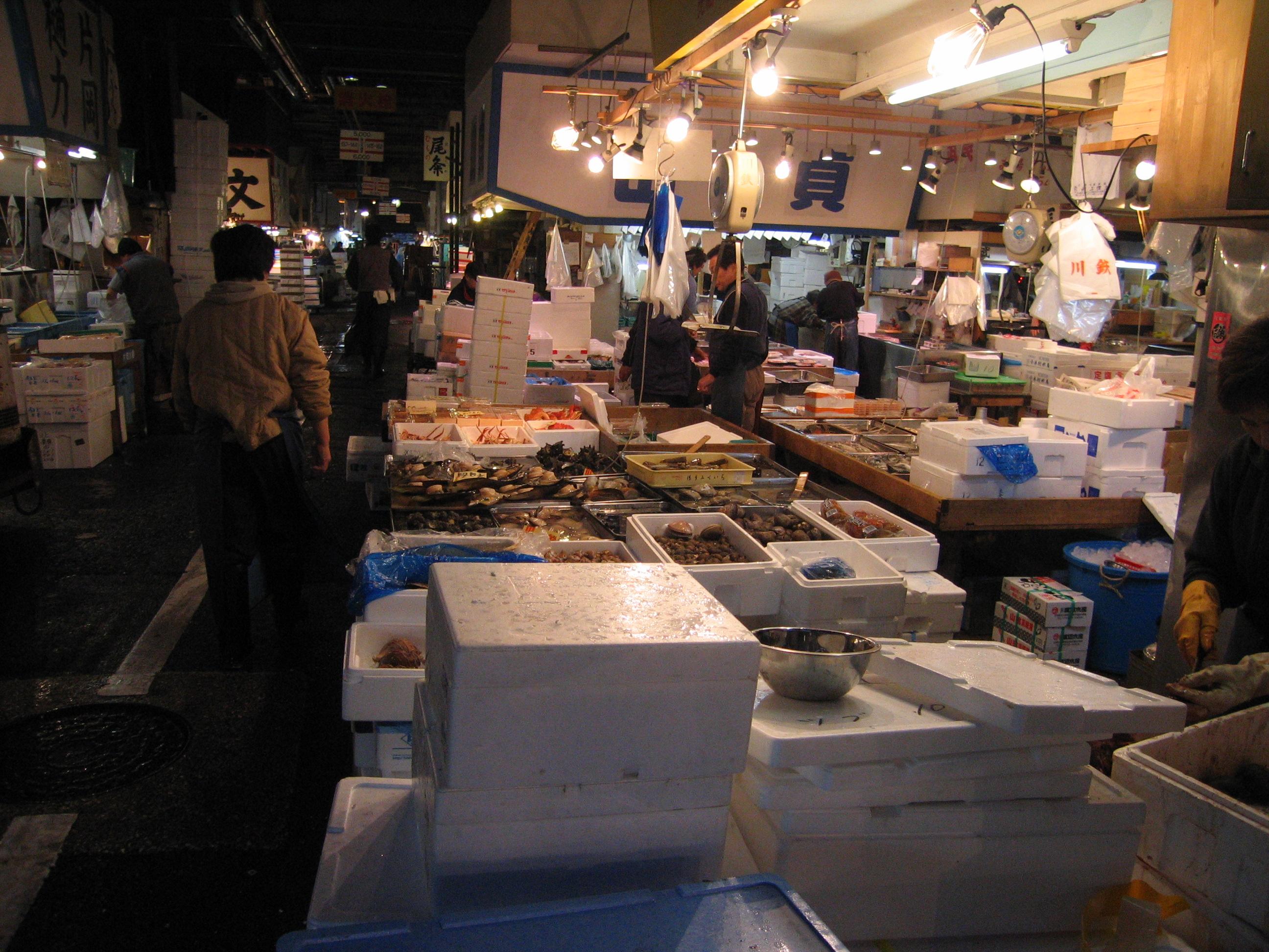 Tsukiji for Tsukiji fish market