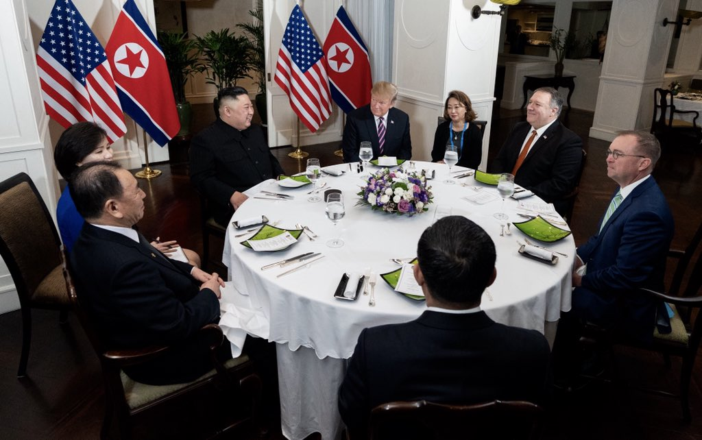 U.S. and DPRK delegation meet at the first night of the summit.jpg