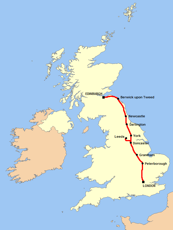 coastal in parts. You could also do the West Coast main line ...