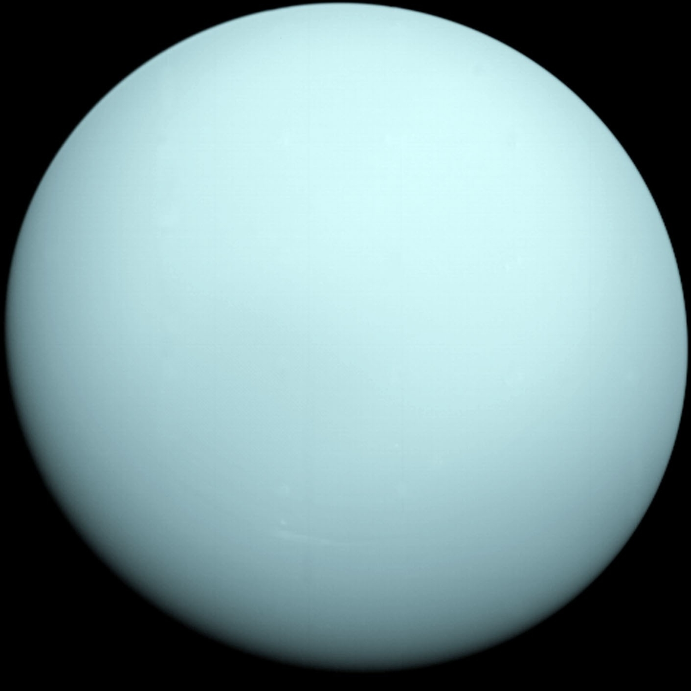 [[Uranus]] taken by the spacecraft Voyager 2 in 1986  -Source=http://www.ifa.hawaii.edu/~barnes/ast110_06/gphah.html -Date= December 16, 1986 -Author=NASA/JPL/Voyager