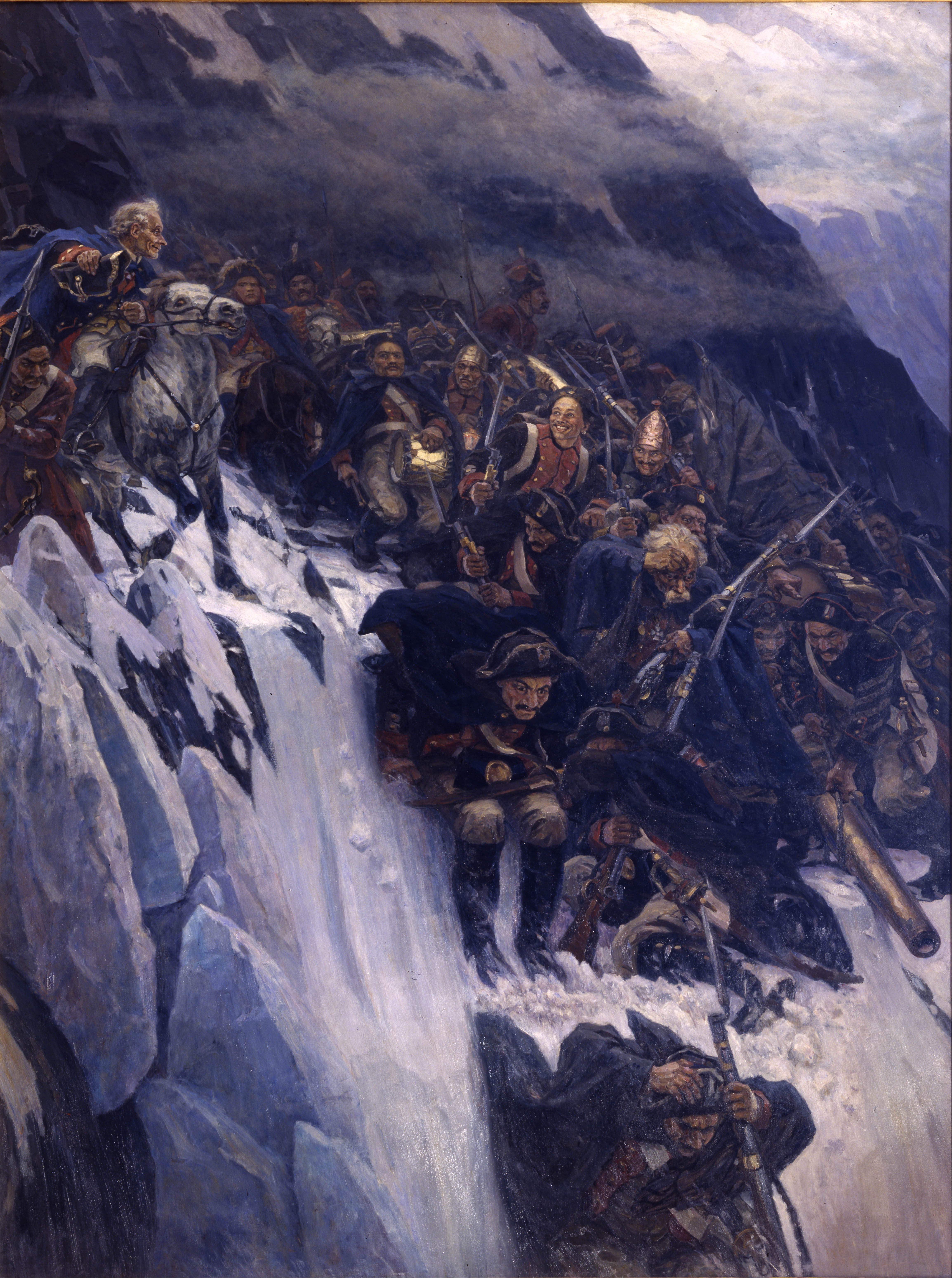 Vasily Surikov Vasily_Surikov_-_Suvorov_Crossing_the_Alps_in_1799_-_Google_Art_Project