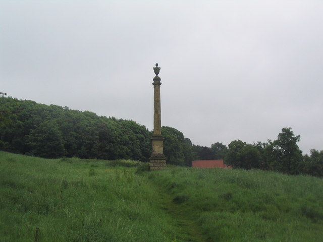 Viking Way approaching the Weston monument at Somerby - geograph.org.uk - 851120