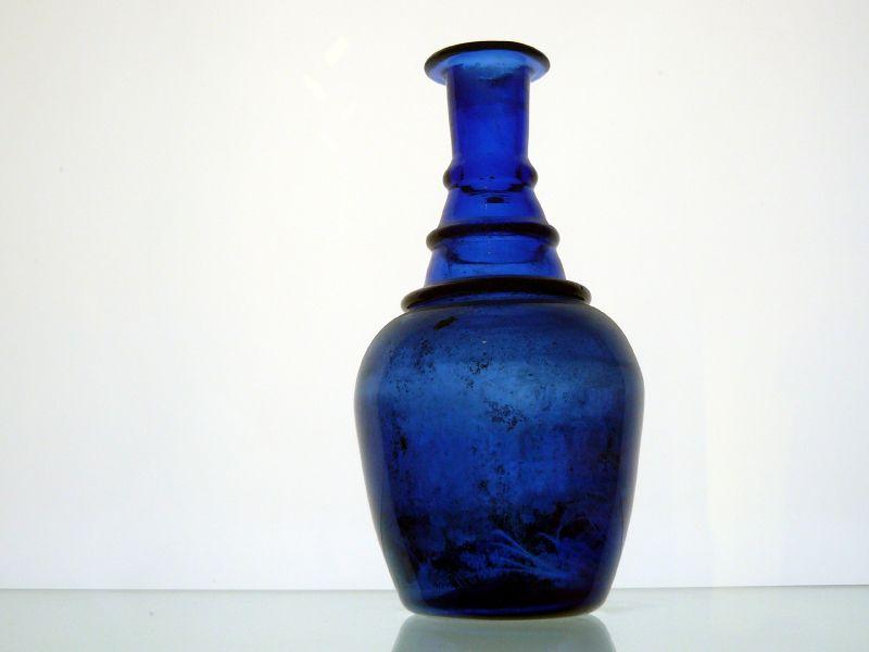 Blue Glass Th Century Coal Wagon