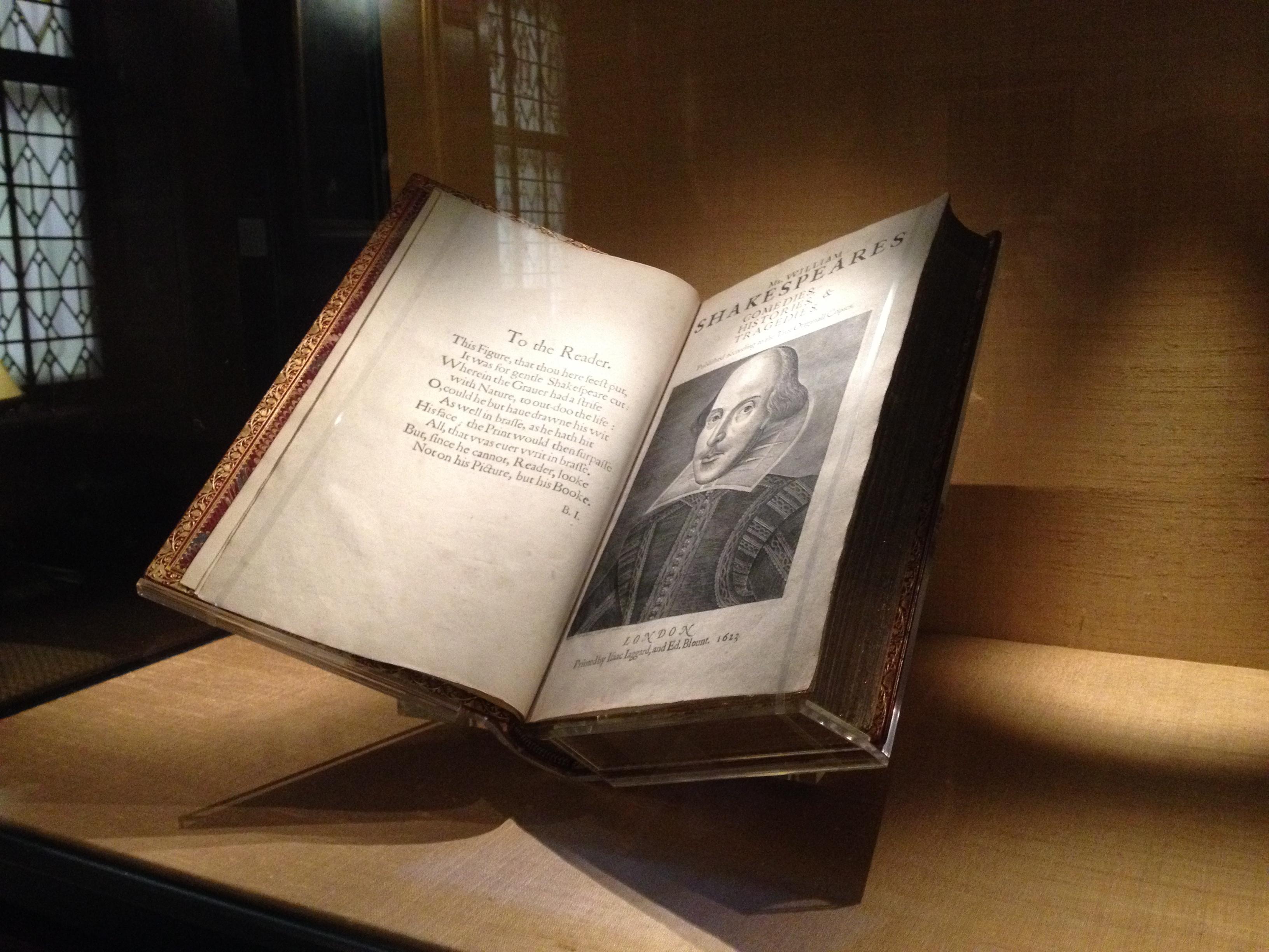 file william shakespeare s first folio jpg  file william shakespeare s first folio