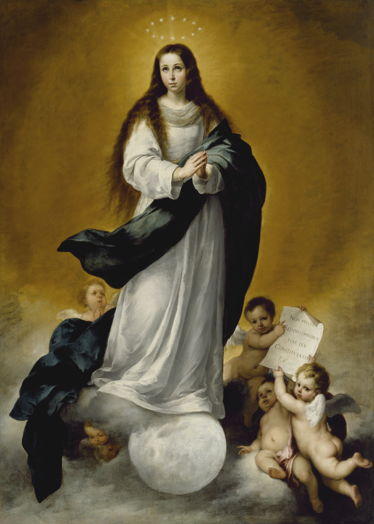 an analysis of the virgin of immaculate conception an oil painting by edgar aguirre