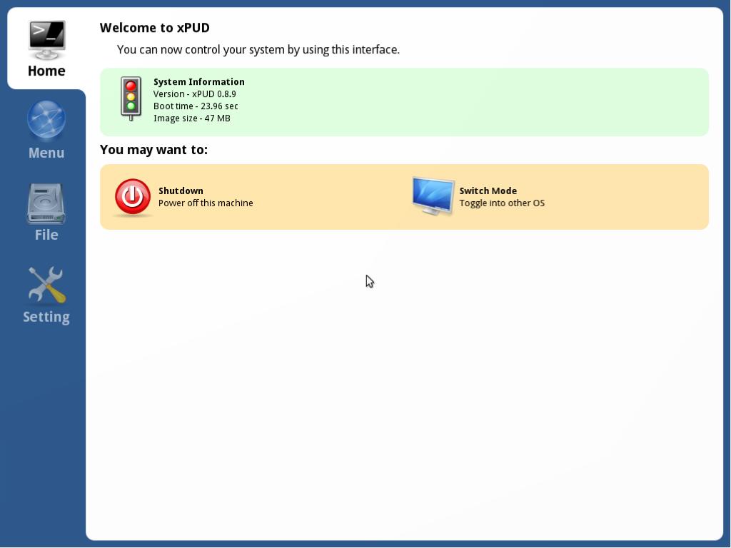Mały linux o nazwie xPUD