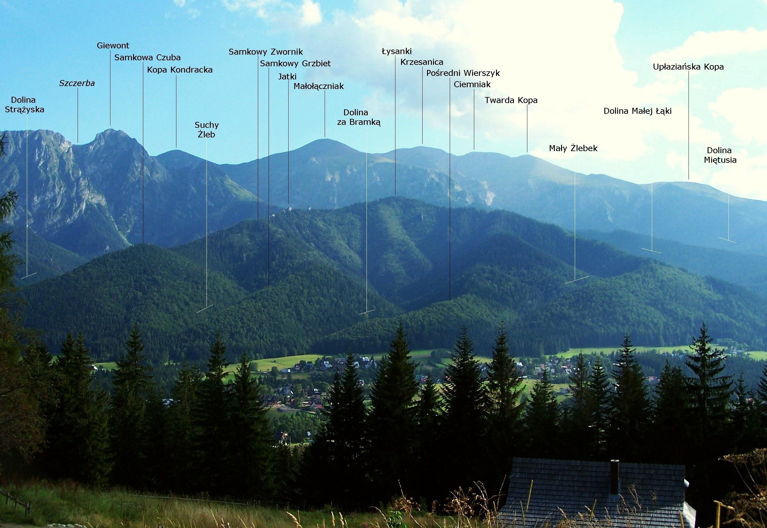 Lokalizacja Doliny za Bramką, fot. Jerzy Opioła, źródło: Wikimedia, GNU
