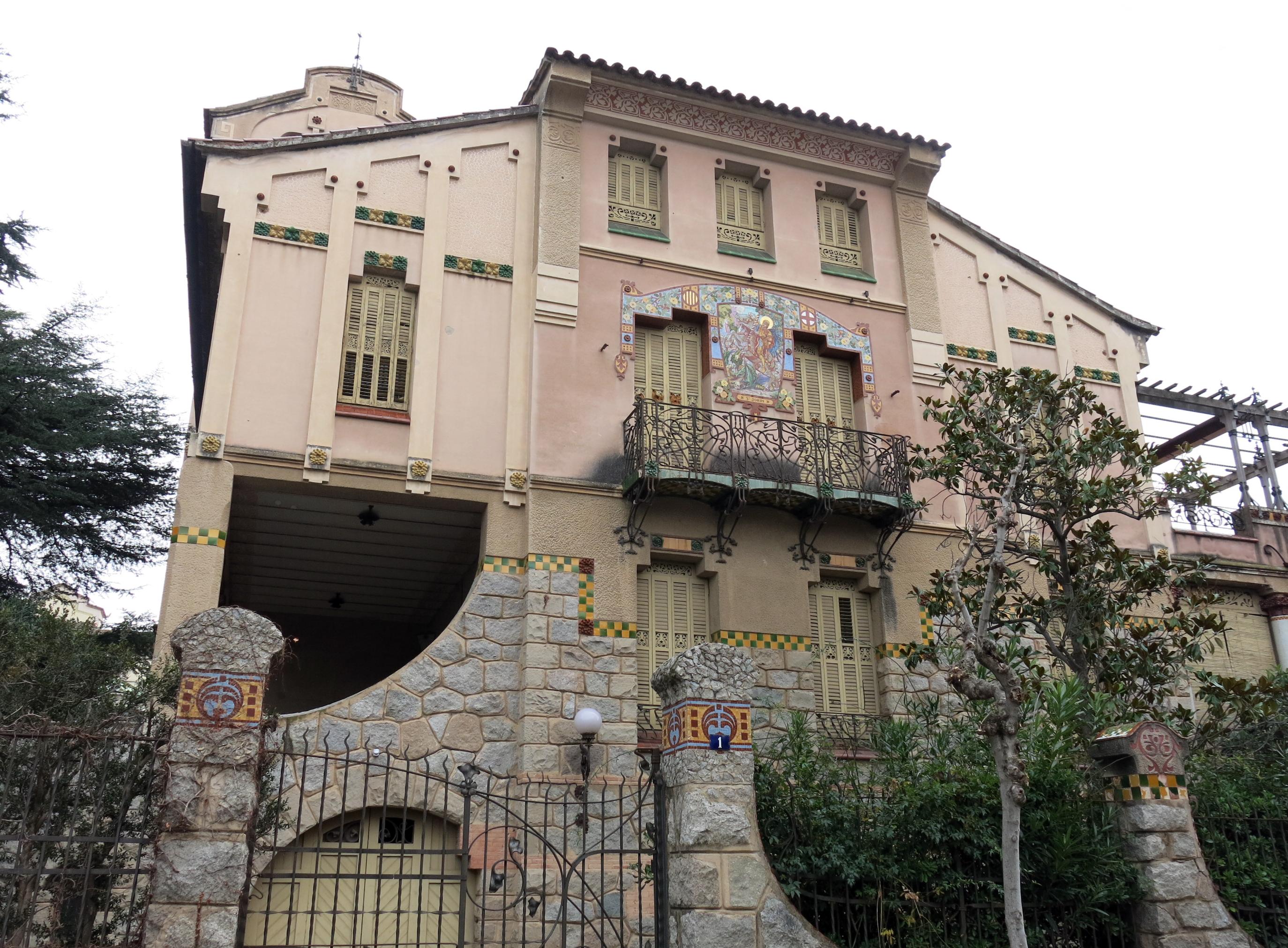 File 045 casa barbey fa ana c manuel raspall la garriga - Casa la garriga ...