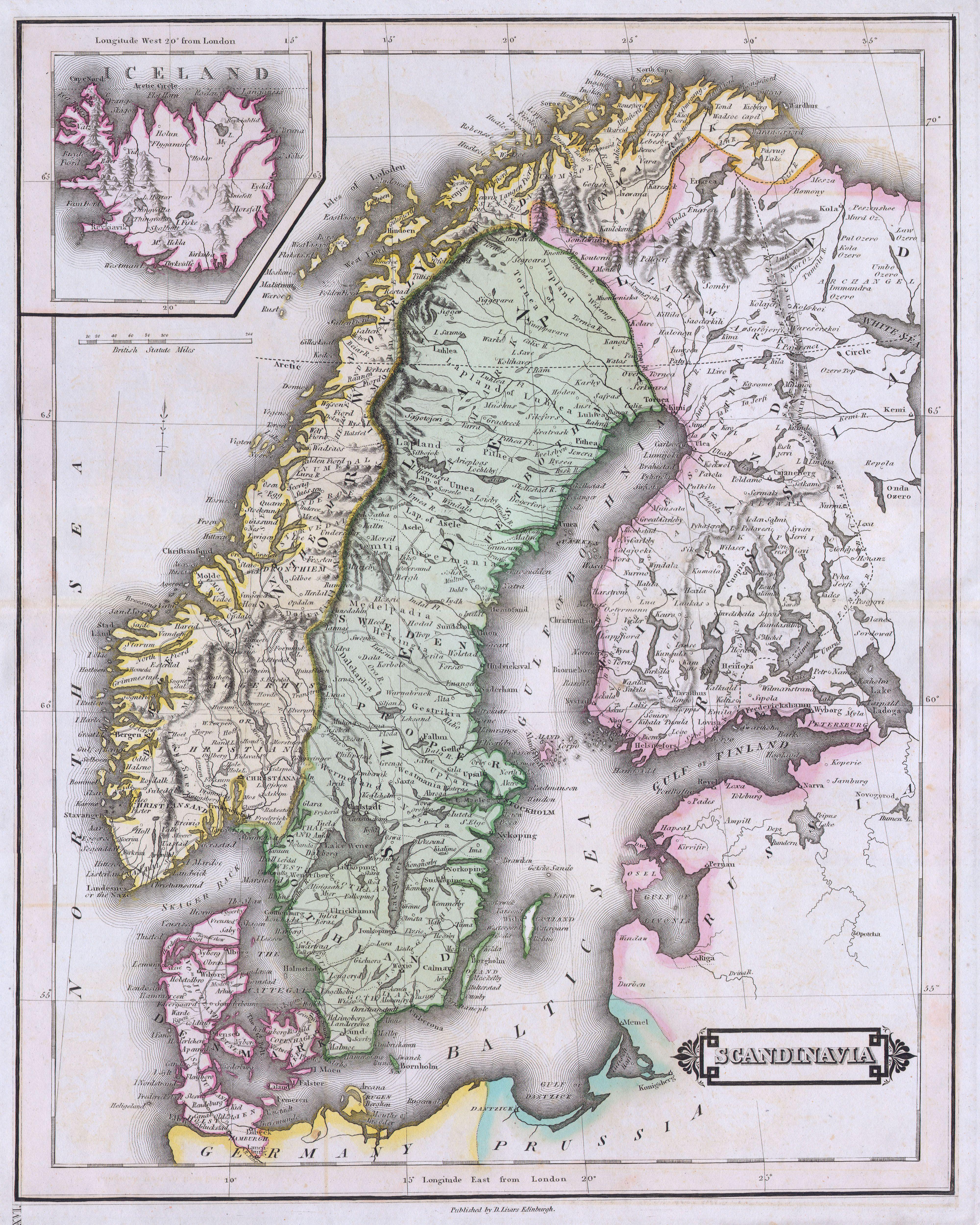 File Lizars Map Of Scandinavia Norway Sweden Finland - Norway map jpg