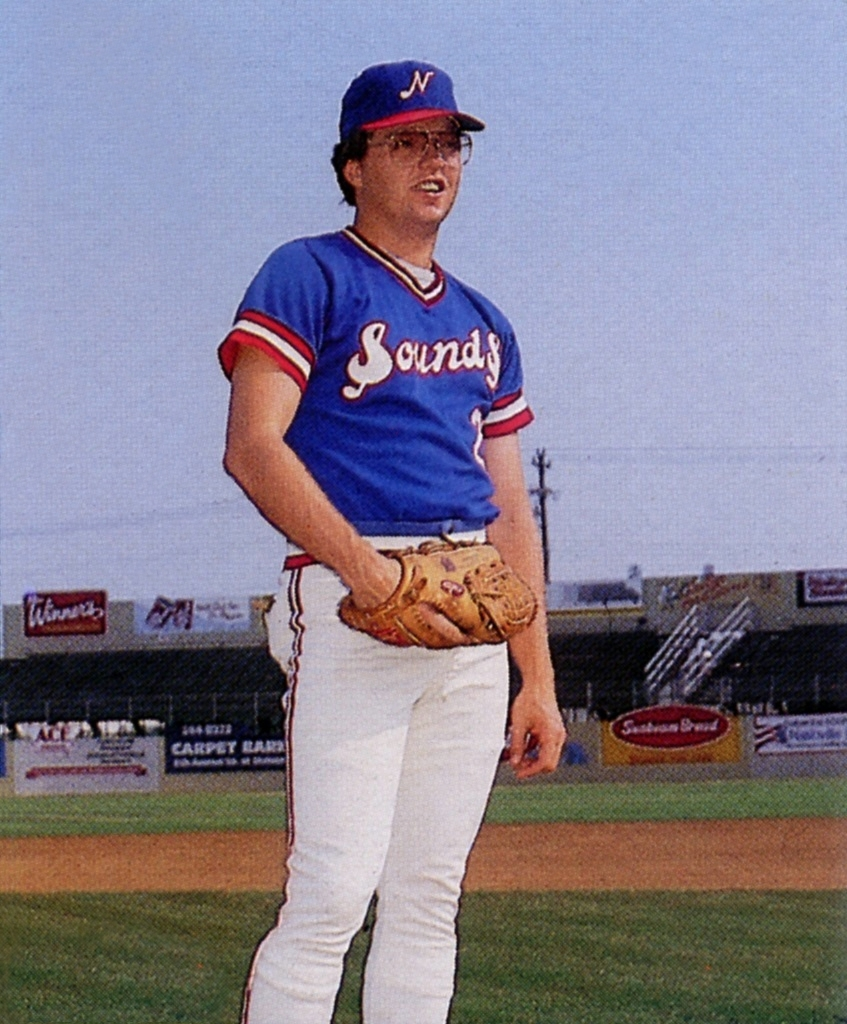 Gibson with the [[Nashville Sounds]] in 1986