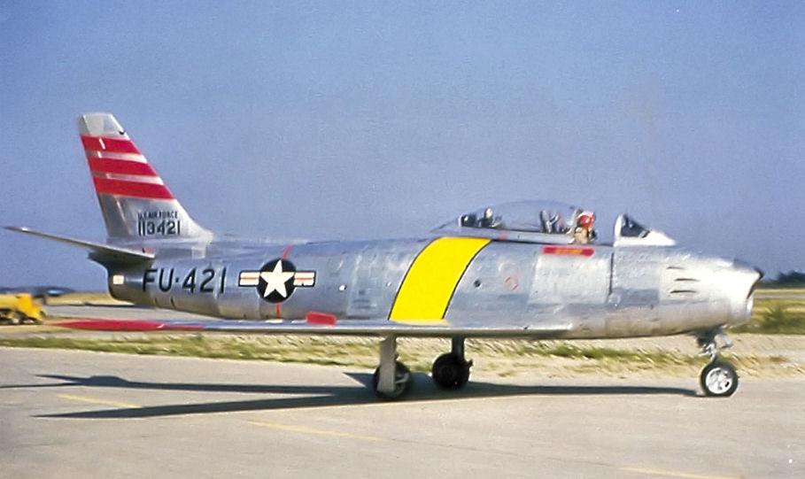 File:22d Fighter-Day Squadron - North American F-86F-25-