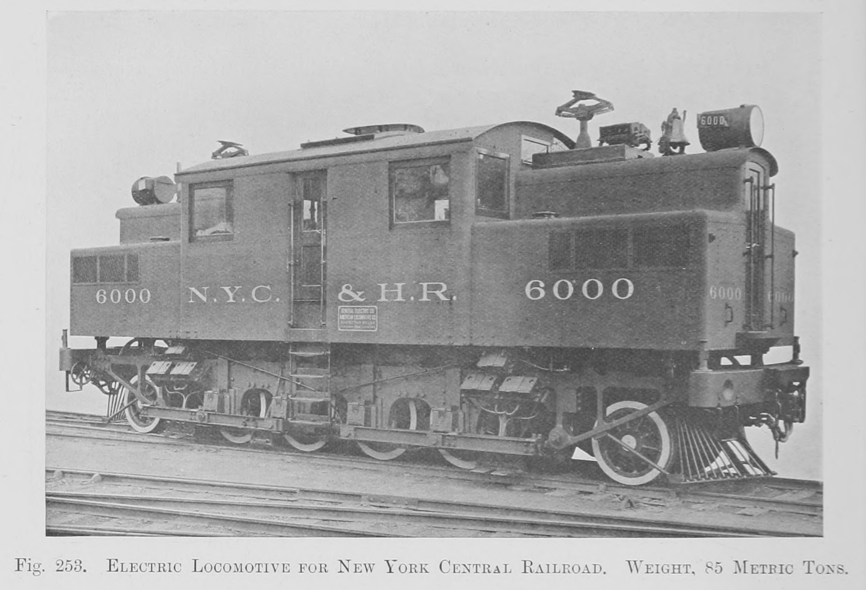 File 253  Electric Locomotive For New York Central Railroad  Weight  85 Metric Tons Jpg