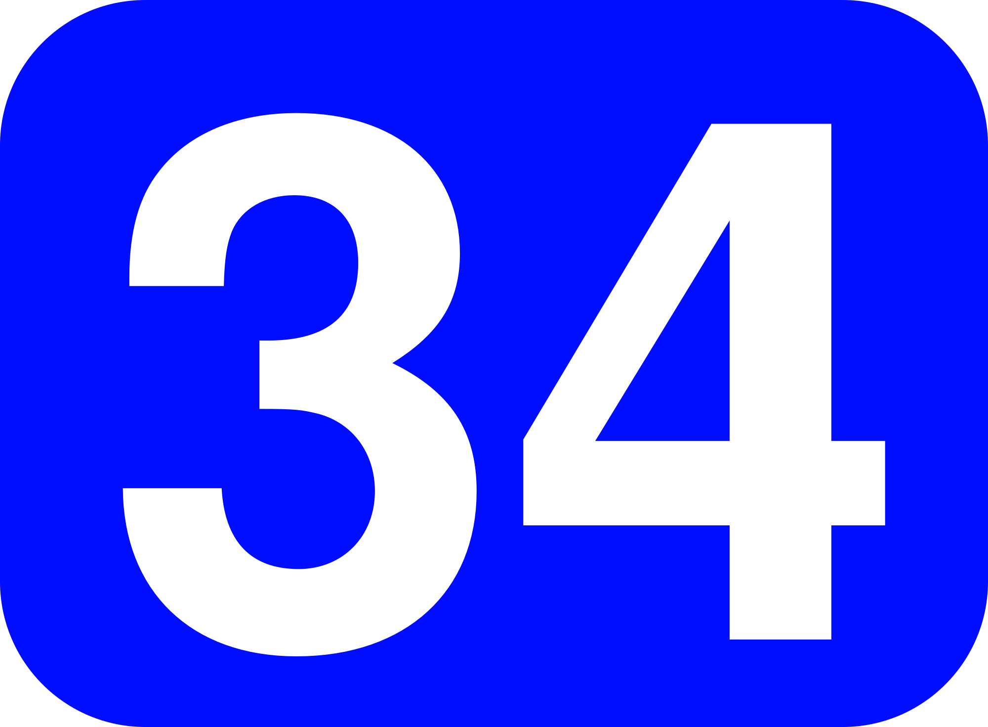 File:34 white, blue rounded rectangle.png