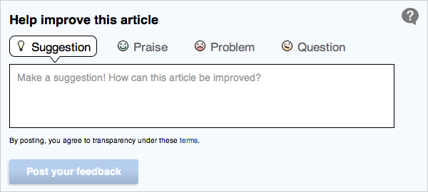 Article Feedback Form Option 2 - Dec. 11, 2011