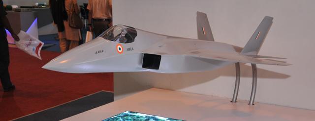 AMCA model at Aero India 2013 (cropped).jpg