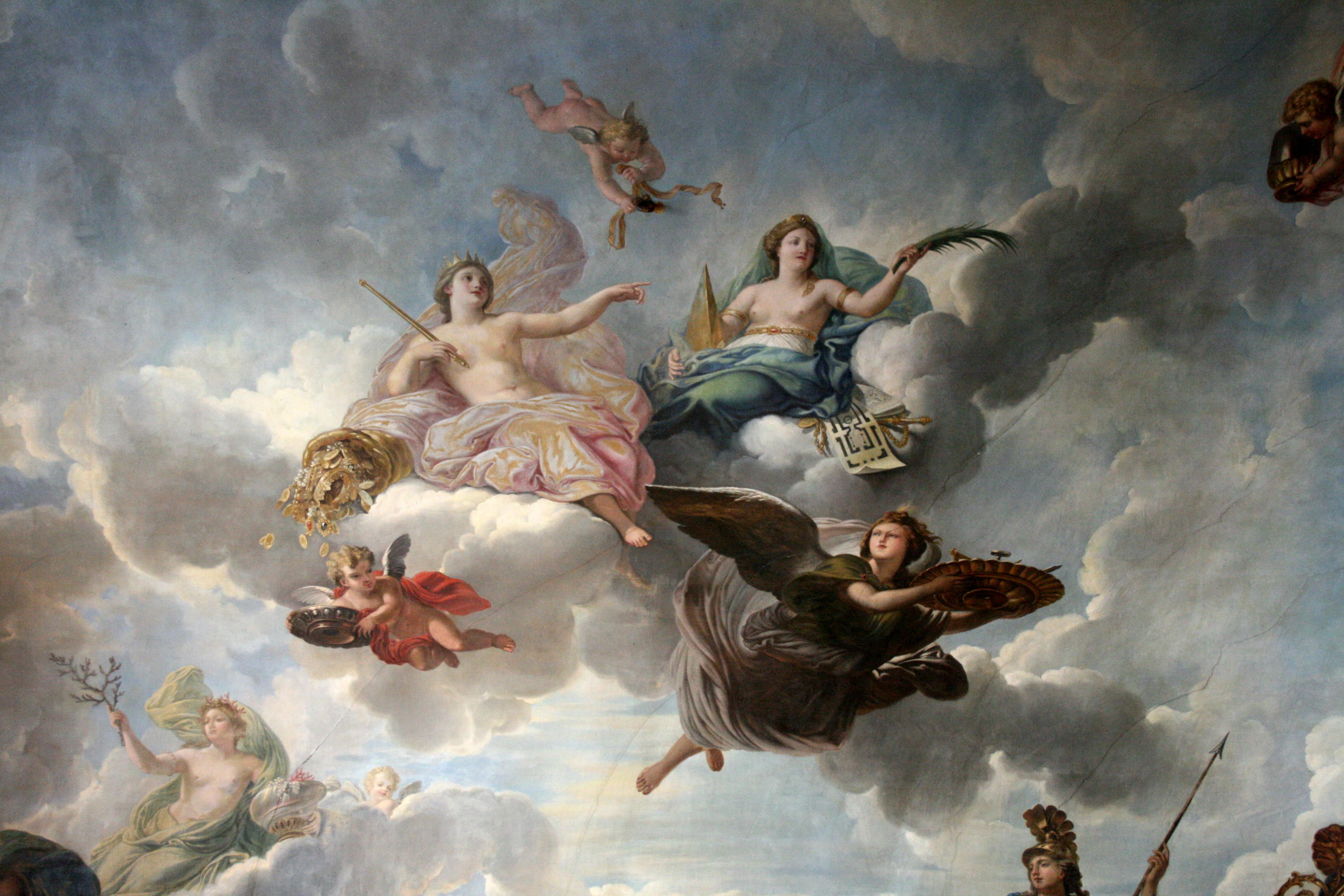 Le salon de l abondance louis xiv au jour le jour - Tres bonne peinture pour plafond ...