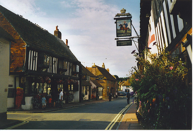 Alfriston High Street. - geograph.org.uk - 175366