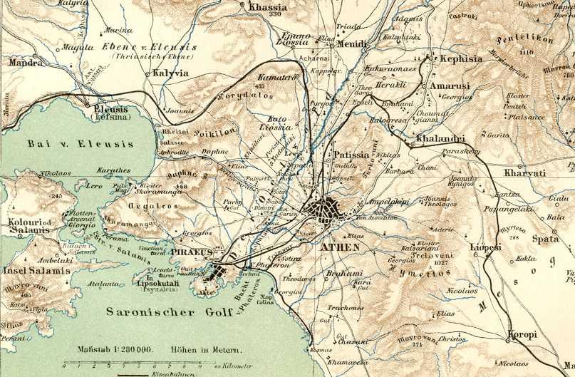 Arxeio Athens And Piraeus Map 1894 Jpg Bikipaideia