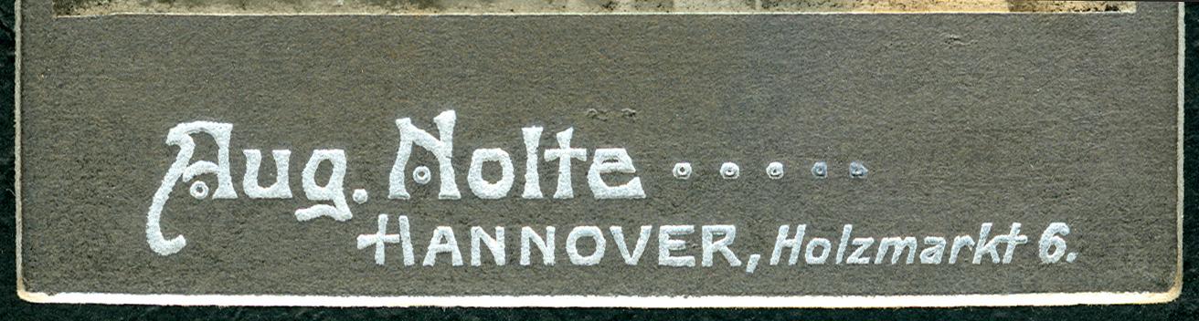 DateiAugust Nolte Hannover Holzmarkt 6 Aufschrift Vorne Am Fuss