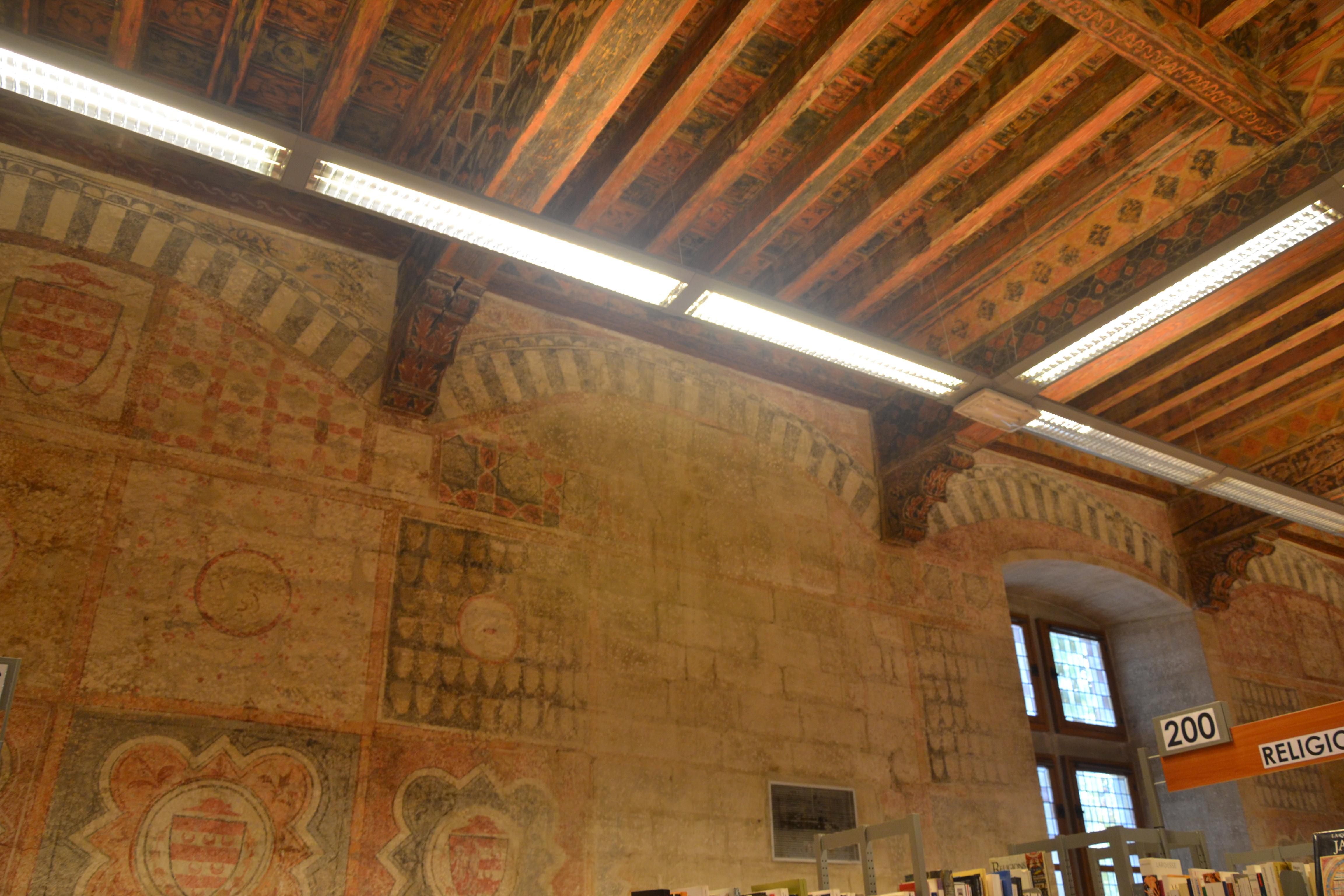 File avignon biblioth que ceccano fresques for Ouverture castorama avignon