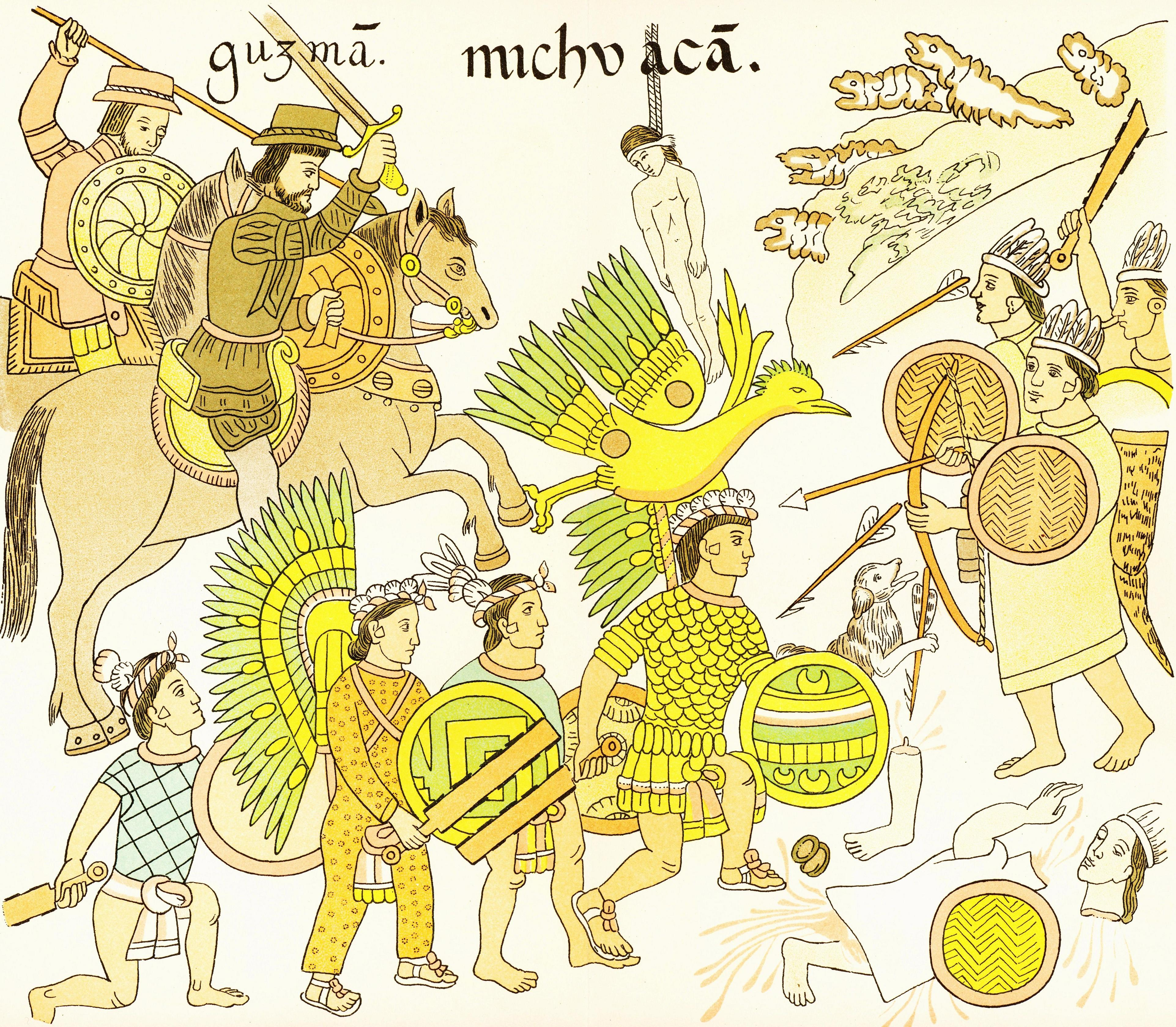 spanish vs aztec weaponry essay With just a few hundred men, the spanish were able to subdue the aztec and inca and the weapons and armor of the conquistadors led to their success.