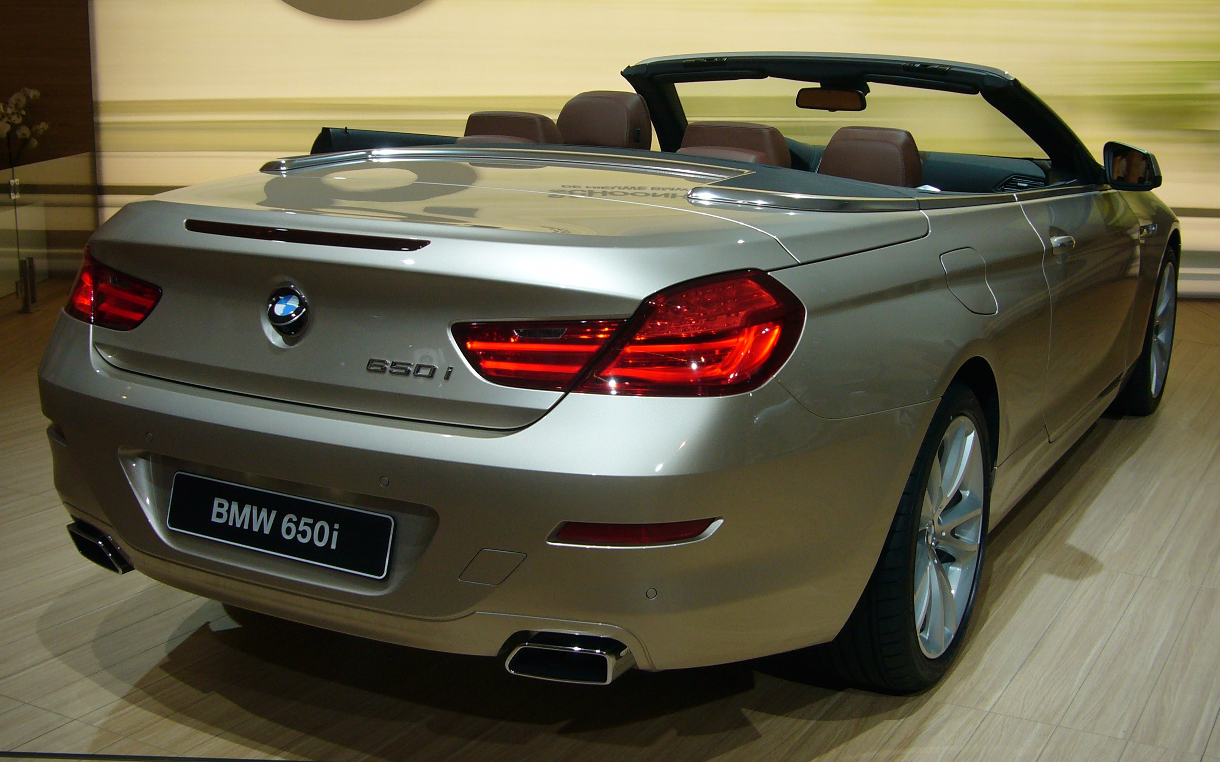 File Bmw 6 Series Convertible Rear Jpg Wikimedia Commons