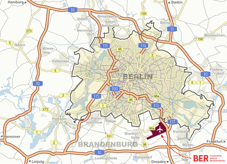 Berlin Transport - Germany map autobahn