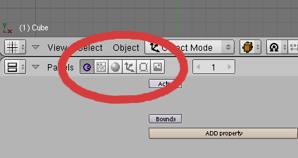Blender Buttons Screenshot