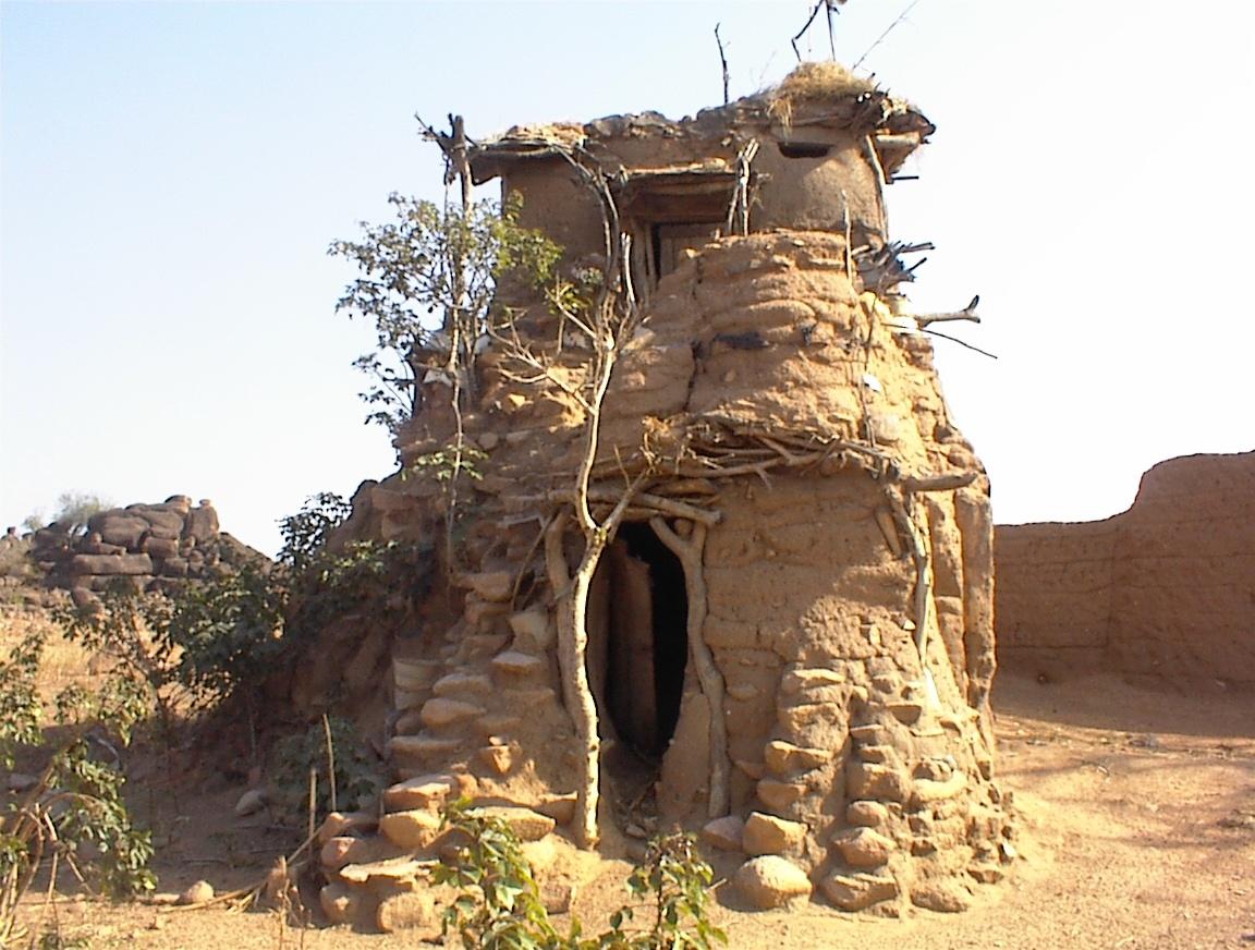 Bolgatanga Blind Man House by Dave Ley