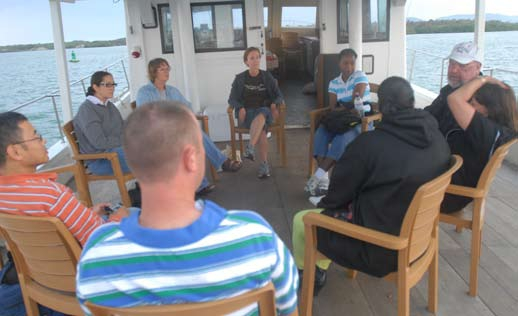 Book club meets aboard the GTMO Queen