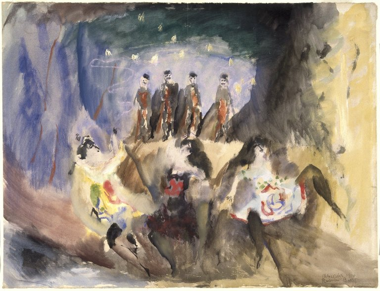 File:Brooklyn Museum - Study for Russian Ballet - Max Weber - overall.jpg