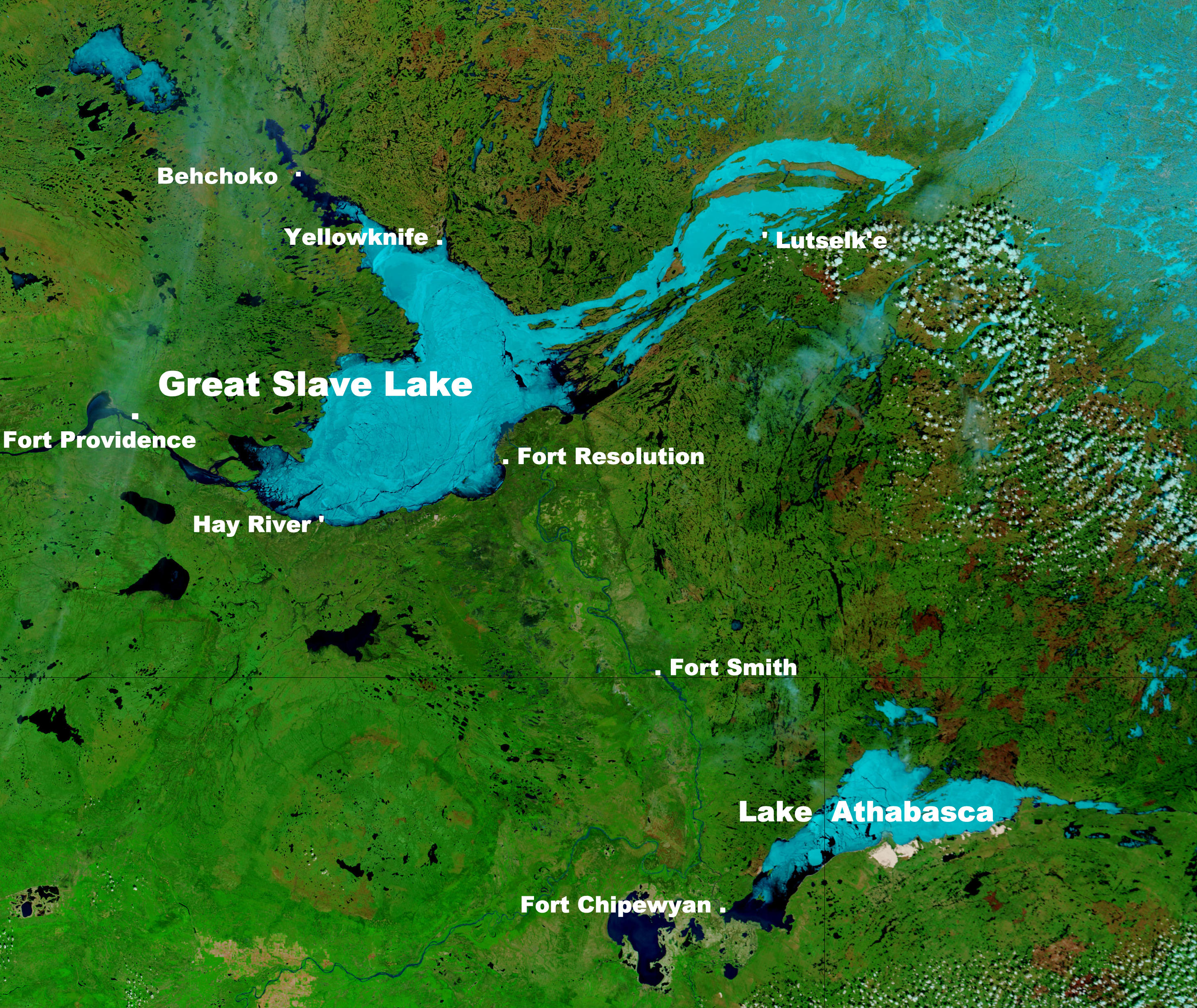 Great Slave Lake Canada Map Great Slave Lake   Wikipedia