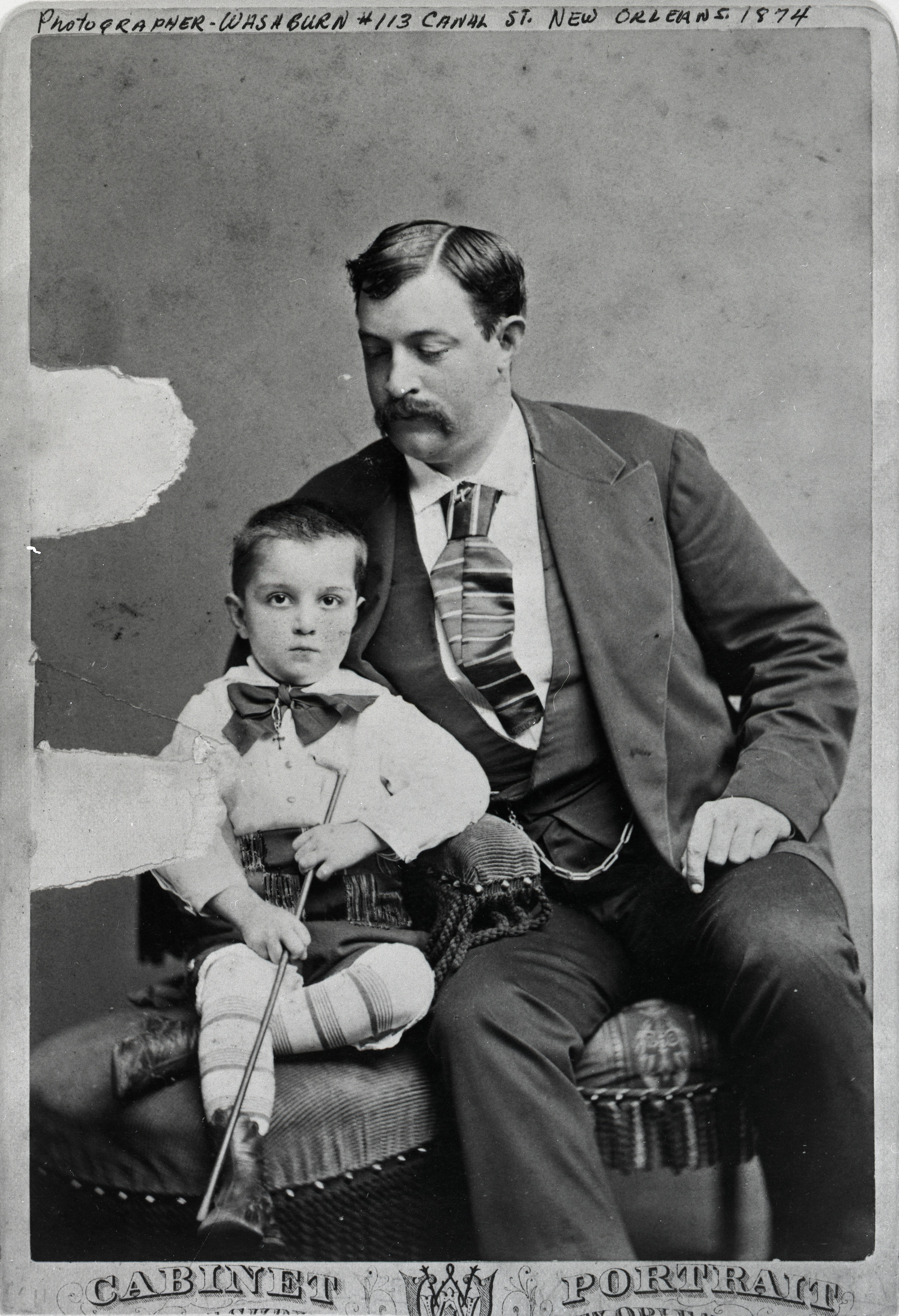 FileCarte De Visite Of Oscar Chopin Husband Kate And Son Jean In New Orleans From Black White Negative 1874