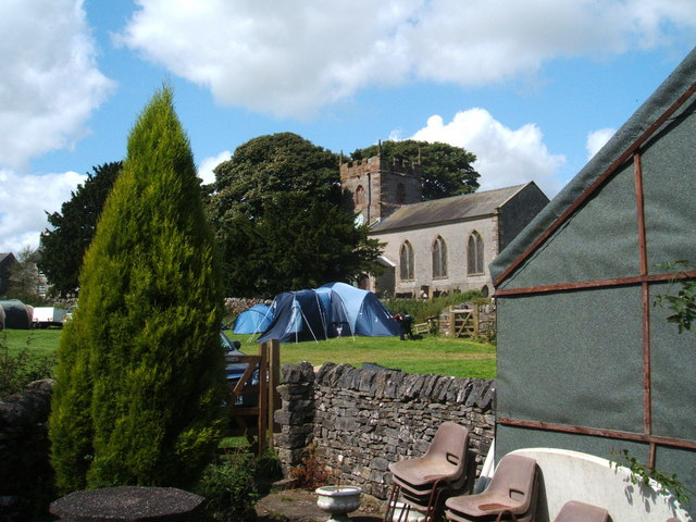 Church, camp site and beer garden - geograph.org.uk - 1453213