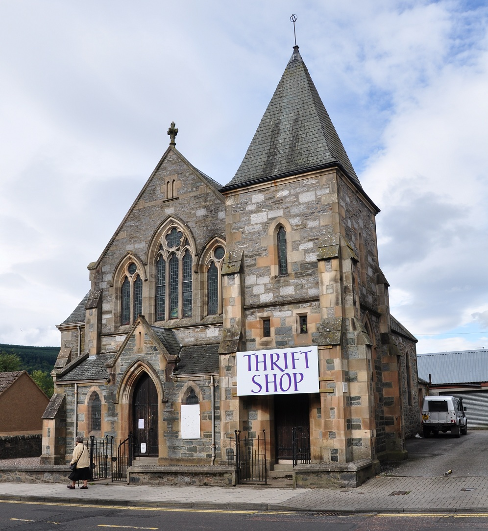 Aberfeldy United Kingdom  city pictures gallery : Description Church in Aberfeldy, Scotland, United Kingdom