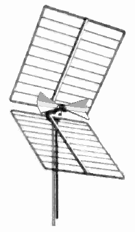 "Corner reflector UHF TV antenna with ""bowtie"" dipole driven element"