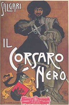 English: Cover for The Black Corsair by Emilio...