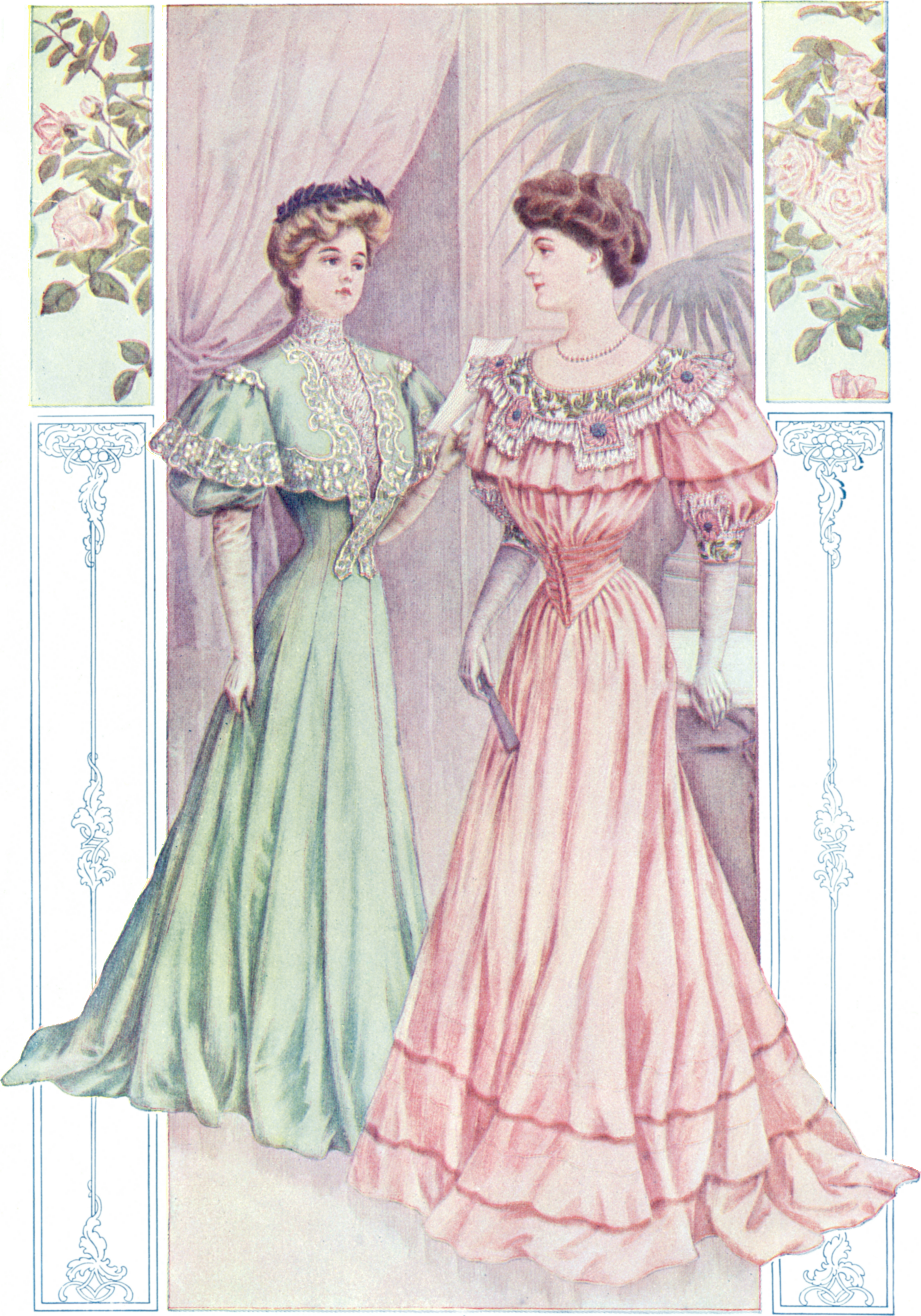 Pleated skirt calculator: historical illustration (1902)