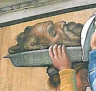 File:Detail of the Judith and Holofernes fresco in the Sistine Chapel - Holofernes.jpg
