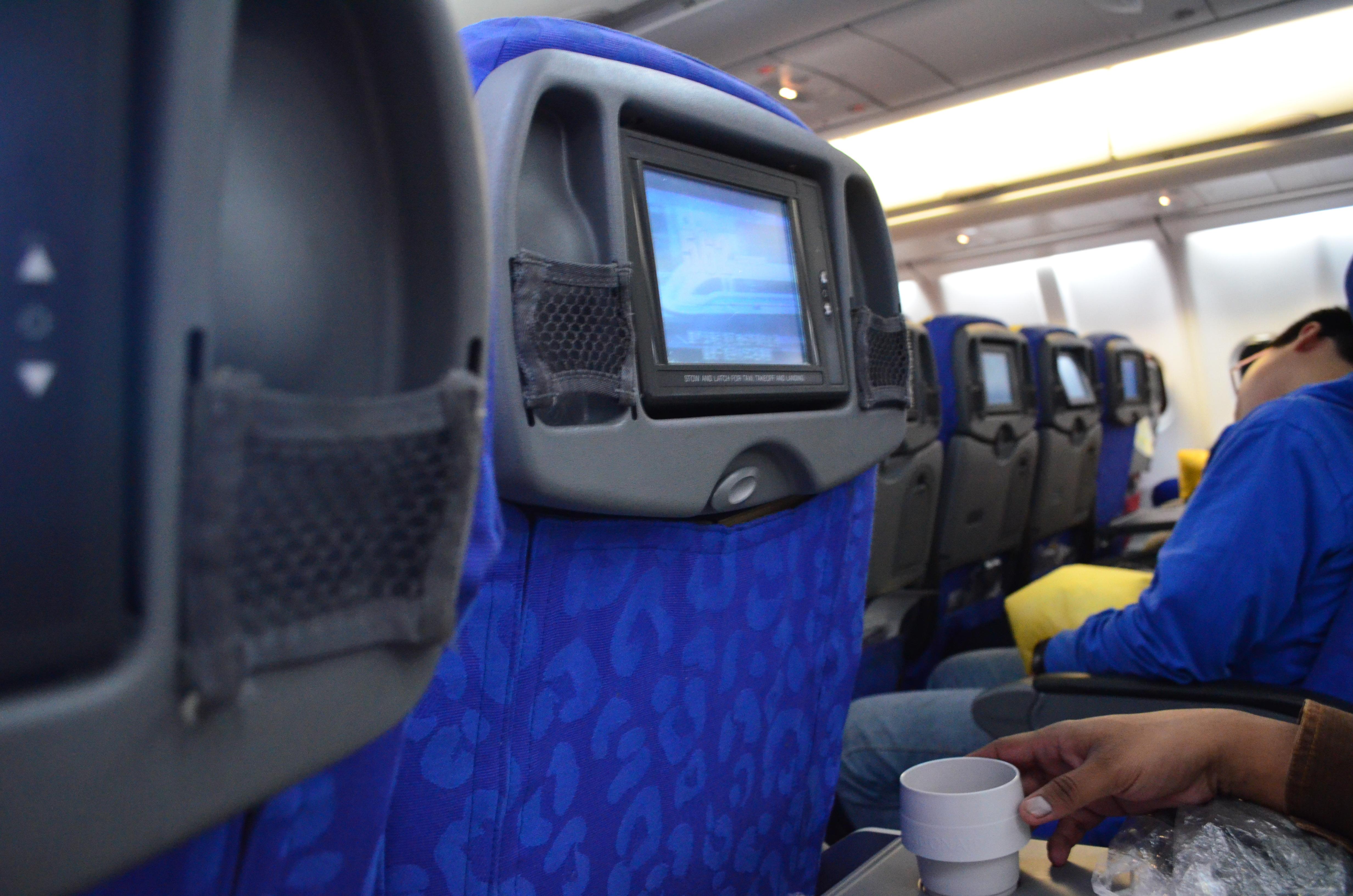 File Dragon Air A 320 Flight Interior Hong Kong To Bangalore Jpg