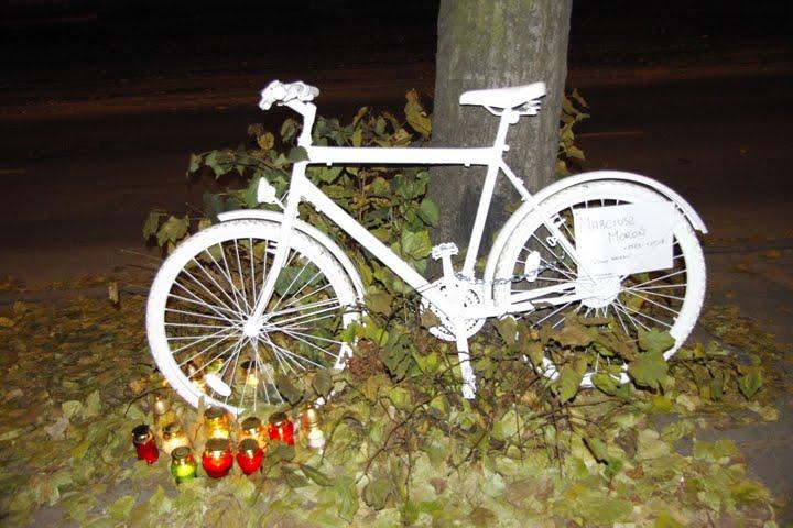 Ghost Bike w Łodzi