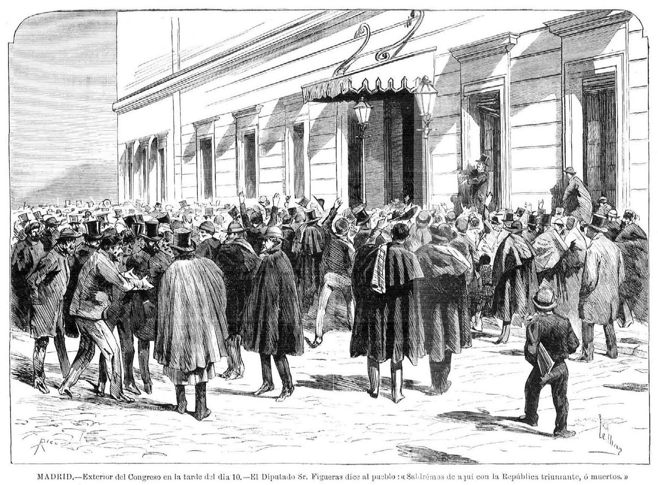 Proclamación de la I República en el Congreso de los Diputados