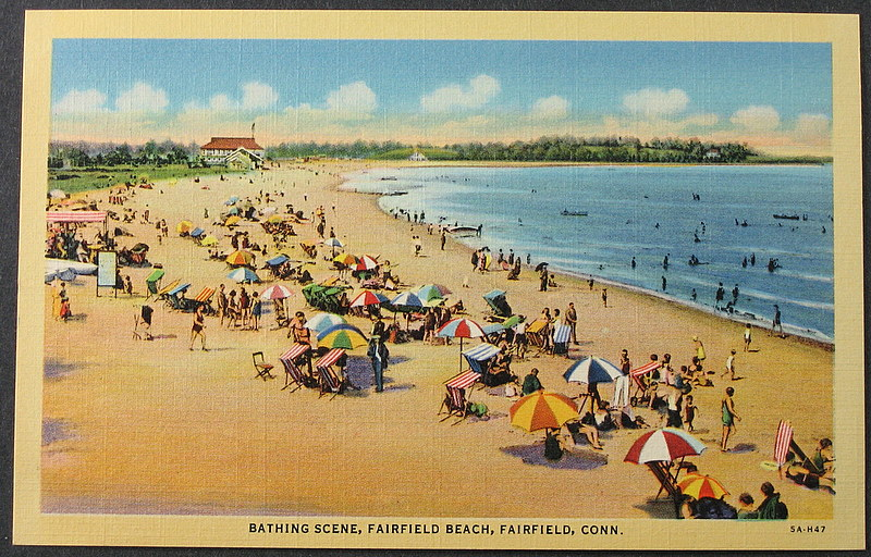 File Fairfield Beach Connecticut Postcard 1930s Or 1940s
