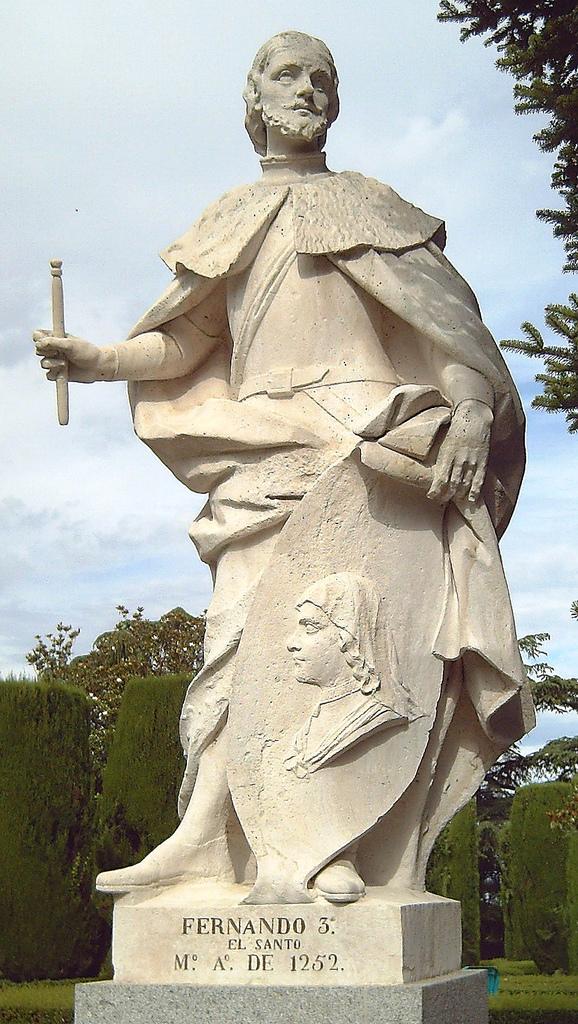 Statue av Ferdinand III i Sabatini-hagene i Madrid (G.D. Olivieri, 1753)